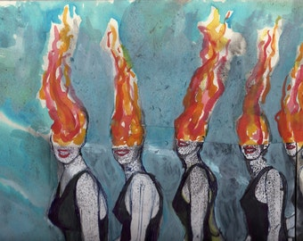 Fire on Fire (original art design)