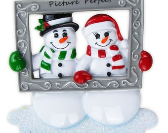 Picture Perfect  Couple Personalized Ornament