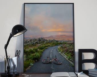 Art Print // Bike in the Road