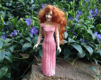 Dollhouse miniature crochet dress for Heidi Ott doll