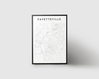 Fayetteville Map Print
