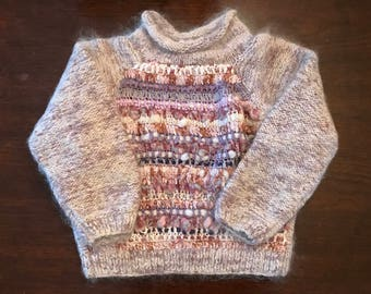 Vintage Jennifer Reed Hand Knit Wool Sweater