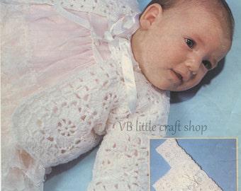 Baby's jacket crochet pattern. Instant PDF download!