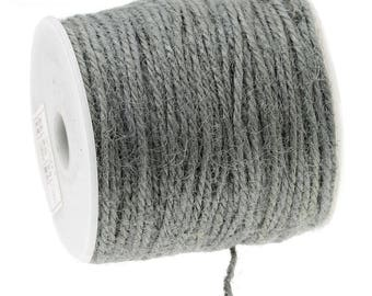 Roll 100 metres of colored jute Twine gray 2 mm - T5