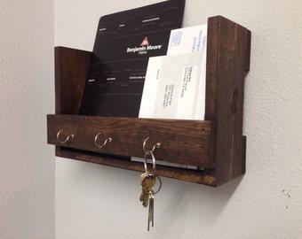 Entryway Organizer, Mail/Key holder, Mail Organizer, Wall Storage Shelf