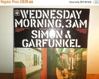 Save 30% Today Vintage 1966 LP Record Simon and Garfunkel Wednesday Morning 3AM Excellent Condition UK Pressing 12234