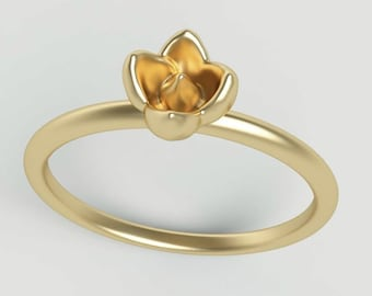 Flower Ring | Small simple ring