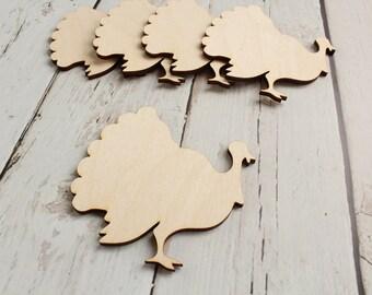Turkey Cutout   Wood Turkey Shape   Thanksgiving Decor   Thanksgiving Wreath Supplies   Free Shipping