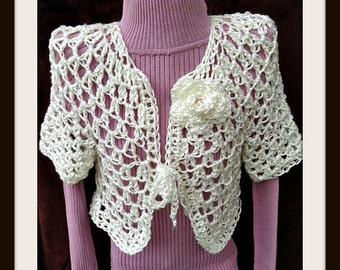 Crochet PATTERN- Angelina Shrug-  crochet pattern for women, kids,  Chest 30-60 inch, circular vest,#998, teen, plus size, clothing