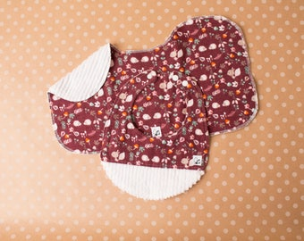 Baby girl Hedgehog Squirrel Animals Newborn Gift set Little Tommys Flannel Chenille Bib Burp cloth Soft Absorbent snaps