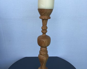 Solid wood candlestick