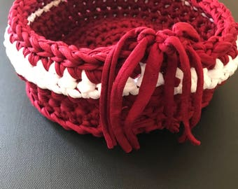crocheted small basket