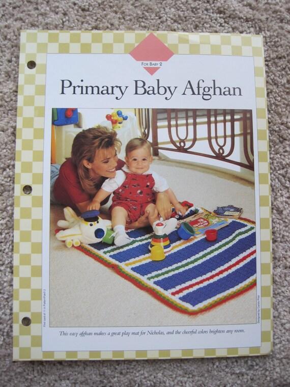 Crochet Pattern Leaflet Vanna White Primary Baby Afghan