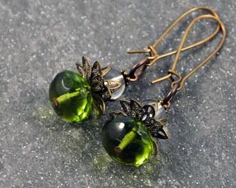 Gypsy Antique Brass Earrings