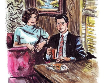 Twin Peaks Art Print - Audrey and Cooper, + Free Shipping Worldwide!