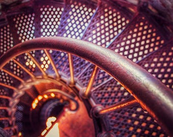 Lighthouse Print, Stairs Print, Winding Staircase Print, Lighthouse Staircase, Spiral Stairs, Stairs Photo, Lighthouse Stairs, Stairs Print