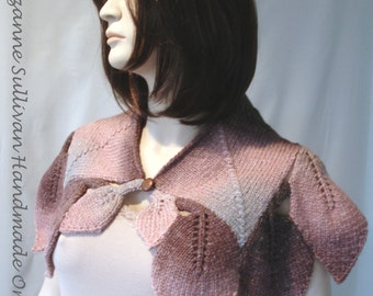 Knitting PDF, Diamond Leaf Cape PDF, Knitting Pattern