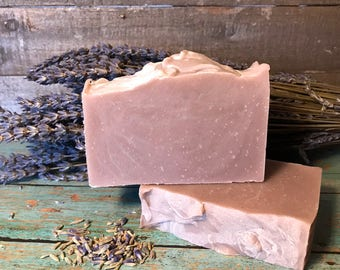 LAVENDER CLAY SOAP Great Facial or Body Bar with Brazilian Purple Clay. Fresh and Soothing Cleanser!
