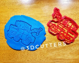 Cars 3 Tow Mater Cookie Cutter