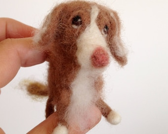 Needle Felted Dog Portrait // Pet Portrait // Custom Made // Made to Order
