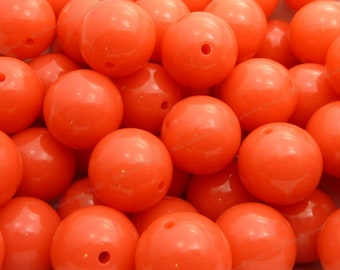 20mm French Rose Pink Chunky Bubblegum Beads - 10pcs - Candy Color Gumball Beads, Chunky Beads, Round Acrylic Beads - BR1-8