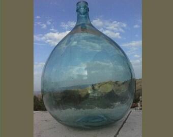 Antique Italian Glass Demijohn