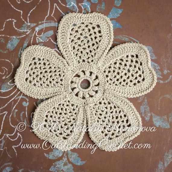 Irish crochet applique pattern looming flower with leaf irish crochet applique pattern looming flower with leaf lace motifs crochet embellishment home decor pdf dt1010fo