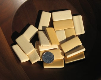 10 Cream Bamboo Domino Tiles