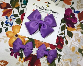 Grape (purple) Bow