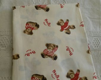 "Cotton fabric / patterns bears ""Teddy Bear"""