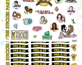 This Is Us TV Show Planner Sticker Kit