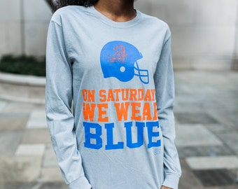 On Gameday We Wear Blue Florida Women's Gameday Tshirt