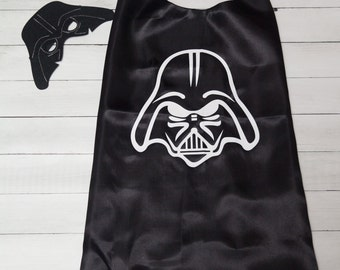 Personalized Darth Vader Superhero Cape and Masks set costume Party Favor Birthday, Christmas Stocking Stuffer