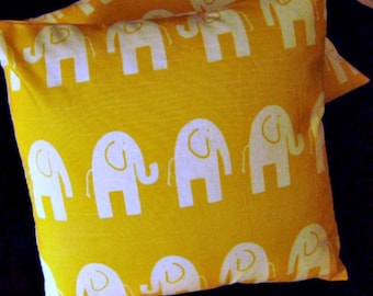 Pair of Pillow Covers 18 x 18 Elephant Walk Yellow by Lilikins Home