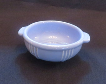 Vintage Baby Cereal Bowl, Blue with Handles, 1940's*