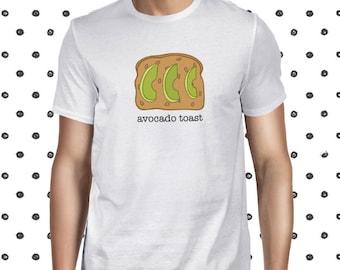 Pun Avocado Toast T-shirt - Men's T Shirt with Avocado - Funny Avocado Toast Shirt for Men - Vegetarian Men's Tshirt - Plant-based Funny Tee