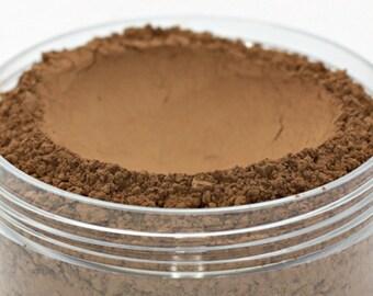 "Vegan Mineral Powder Foundation - Delicate - ""Truffle"" (very dark shade with neutral undertone) Large Net wt 7g Jar"