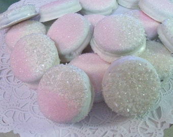 Blingy Glitz Glam Gourmet White Chocolate Covered OREO Cookies - Weddings, Bridal Showers, Anniversaries, Party Favors