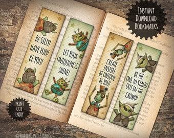 Bookmark Printable, Cute Monster svg, Encouragement for kids, Little Reader Gift, Teacher bookmark, Teacher printable, RobinDavisStudio