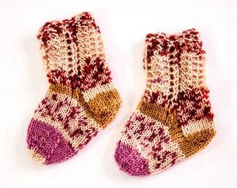 Knitted Baby Socks Etsy