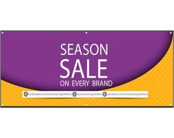 Season Sale Vinyl Single Sided Banner with Grommets