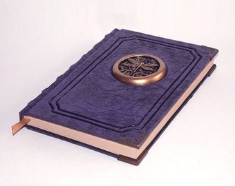 Purple dragonfly grimoire book magic insect larp cosplay druid wicca spellbook