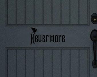 Nevermore Door Decal | Raven Door Decal | Halloween Decor | Fall Decor | Front Door Decor | 22466