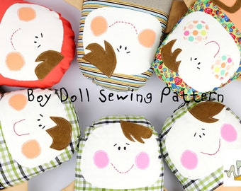 Textile Boy Doll PDF Tutorial and ePattern with Instructions, Easy Sewing Tutorial, Textile Pattern, Digital file for Instant Download