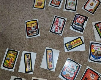 Whacky Pack Vintage Stickers 1970s