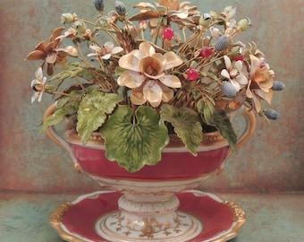 JANE HUTCHESON, Jane Hutcheson Floral Arrangement for Gorham, Fleurs des Siècles, Jane Hutcheson Floral Arrangement, Flower Arrangement