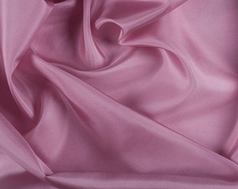 "45"" Wide 100% Silk Crepe de Chine Rose Pink By the Yard (1200M115)"
