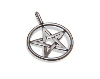 Handmade, Recycled Sterling Silver Pentagram