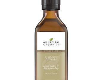 Tamanu Oil,  Natural Skincare, Natural Haircare - 3.4oz (100ml)