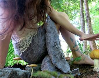 Elegant Hi-low Hem Lace Skirt  and Ruffle : MADE TO ORDER